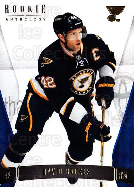 2011-12 Panini Rookie Anthology #59 David Backes<br/>1 In Stock - $1.00 each - <a href=https://centericecollectibles.foxycart.com/cart?name=2011-12%20Panini%20Rookie%20Anthology%20%2359%20David%20Backes...&quantity_max=1&price=$1.00&code=726921 class=foxycart> Buy it now! </a>