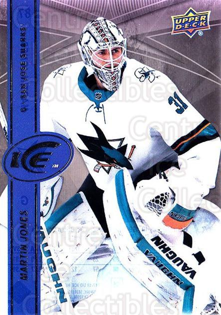 2017-18 UD Ice #87 Martin Jones<br/>1 In Stock - $2.00 each - <a href=https://centericecollectibles.foxycart.com/cart?name=2017-18%20UD%20Ice%20%2387%20Martin%20Jones...&quantity_max=1&price=$2.00&code=727114 class=foxycart> Buy it now! </a>