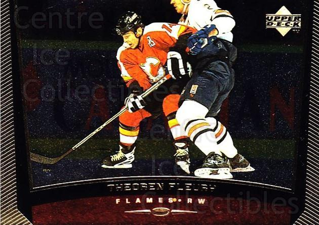 1998-99 Upper Deck Gold Reserve #232 Theo Fleury<br/>4 In Stock - $1.00 each - <a href=https://centericecollectibles.foxycart.com/cart?name=1998-99%20Upper%20Deck%20Gold%20Reserve%20%23232%20Theo%20Fleury...&quantity_max=4&price=$1.00&code=72746 class=foxycart> Buy it now! </a>