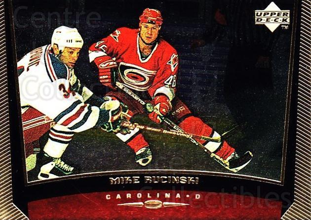 1998-99 Upper Deck Gold Reserve #235 Mike Rucinski<br/>6 In Stock - $1.00 each - <a href=https://centericecollectibles.foxycart.com/cart?name=1998-99%20Upper%20Deck%20Gold%20Reserve%20%23235%20Mike%20Rucinski...&quantity_max=6&price=$1.00&code=72748 class=foxycart> Buy it now! </a>
