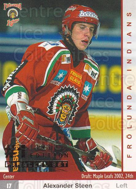 2002-03 Swedish Elitset First Edition Parallel #279 Alexander Steen<br/>1 In Stock - $10.00 each - <a href=https://centericecollectibles.foxycart.com/cart?name=2002-03%20Swedish%20Elitset%20First%20Edition%20Parallel%20%23279%20Alexander%20Steen...&quantity_max=1&price=$10.00&code=727546 class=foxycart> Buy it now! </a>