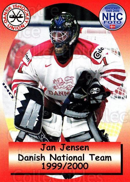 1999-00 Danish National Team #1 Jan Jensen<br/>1 In Stock - $3.00 each - <a href=https://centericecollectibles.foxycart.com/cart?name=1999-00%20Danish%20National%20Team%20%231%20Jan%20Jensen...&quantity_max=1&price=$3.00&code=727810 class=foxycart> Buy it now! </a>