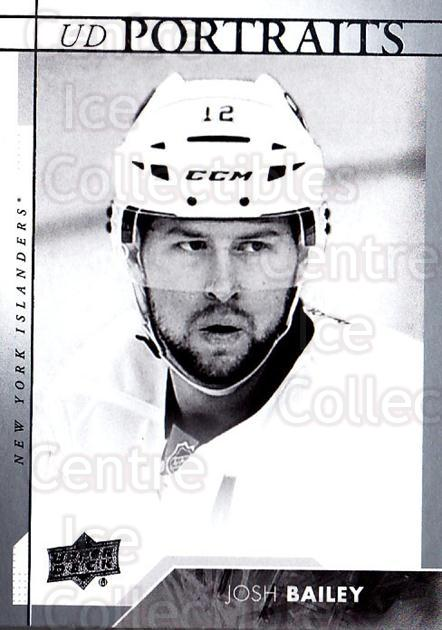2017-18 Upper Deck UD Portraits #36 Josh Bailey<br/>1 In Stock - $2.00 each - <a href=https://centericecollectibles.foxycart.com/cart?name=2017-18%20Upper%20Deck%20UD%20Portraits%20%2336%20Josh%20Bailey...&quantity_max=1&price=$2.00&code=727867 class=foxycart> Buy it now! </a>