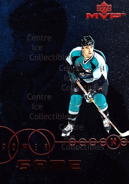 1998-99 Upper Deck MVP Power Game #13 Patrick Marleau<br/>11 In Stock - $2.00 each - <a href=https://centericecollectibles.foxycart.com/cart?name=1998-99%20Upper%20Deck%20MVP%20Power%20Game%20%2313%20Patrick%20Marleau...&quantity_max=11&price=$2.00&code=72807 class=foxycart> Buy it now! </a>