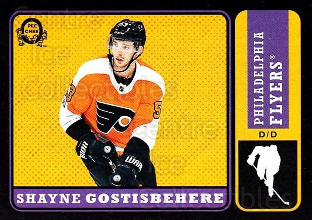 2018-19 O-Pee-Chee Retro Black #42 Shayne Gostisbehere<br/>4 In Stock - $5.00 each - <a href=https://centericecollectibles.foxycart.com/cart?name=2018-19%20O-Pee-Chee%20Retro%20Black%20%2342%20Shayne%20Gostisbe...&quantity_max=4&price=$5.00&code=728111 class=foxycart> Buy it now! </a>