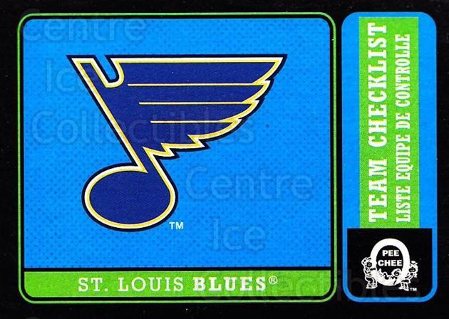 2018-19 O-Pee-Chee Retro Black #581 St Louis Blues, Checklist<br/>2 In Stock - $5.00 each - <a href=https://centericecollectibles.foxycart.com/cart?name=2018-19%20O-Pee-Chee%20Retro%20Black%20%23581%20St%20Louis%20Blues,...&quantity_max=2&price=$5.00&code=728650 class=foxycart> Buy it now! </a>