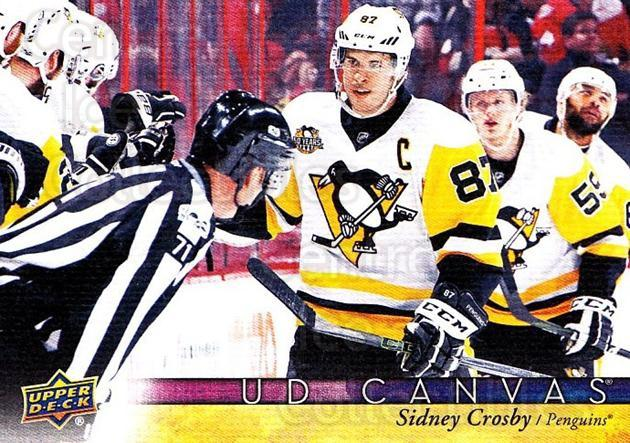 2017-18 Upper Deck Canvas #66 Sidney Crosby<br/>1 In Stock - $10.00 each - <a href=https://centericecollectibles.foxycart.com/cart?name=2017-18%20Upper%20Deck%20Canvas%20%2366%20Sidney%20Crosby...&quantity_max=1&price=$10.00&code=728735 class=foxycart> Buy it now! </a>