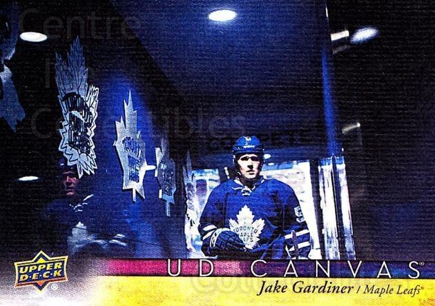 2017-18 Upper Deck Canvas #80 Jake Gardiner<br/>1 In Stock - $2.00 each - <a href=https://centericecollectibles.foxycart.com/cart?name=2017-18%20Upper%20Deck%20Canvas%20%2380%20Jake%20Gardiner...&quantity_max=1&price=$2.00&code=728749 class=foxycart> Buy it now! </a>