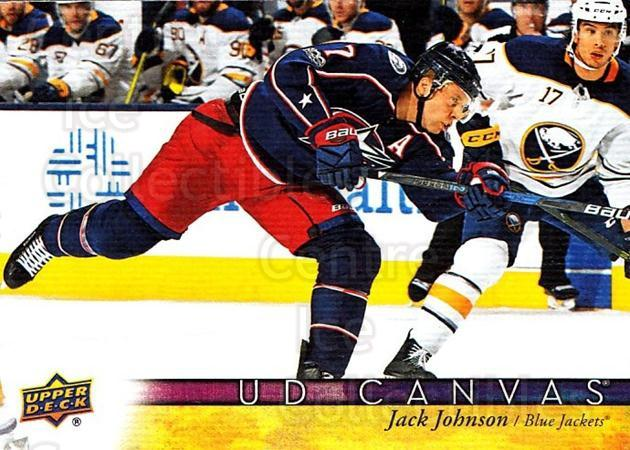 2017-18 Upper Deck Canvas #144 Jack Johnson<br/>1 In Stock - $2.00 each - <a href=https://centericecollectibles.foxycart.com/cart?name=2017-18%20Upper%20Deck%20Canvas%20%23144%20Jack%20Johnson...&quantity_max=1&price=$2.00&code=728813 class=foxycart> Buy it now! </a>