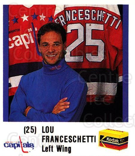 1988-89 Washington Capitals Kodak #6 Lou Franceschetti<br/>1 In Stock - $3.00 each - <a href=https://centericecollectibles.foxycart.com/cart?name=1988-89%20Washington%20Capitals%20Kodak%20%236%20Lou%20Franceschet...&quantity_max=1&price=$3.00&code=729188 class=foxycart> Buy it now! </a>