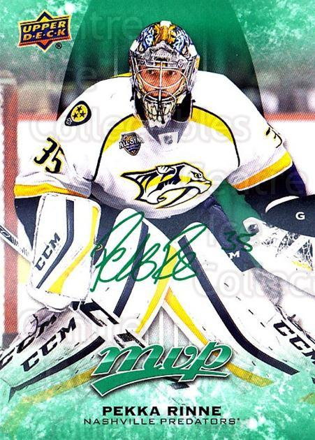 2016-17 Upper Deck MVP Green #231 Pekka Rinne<br/>1 In Stock - $5.00 each - <a href=https://centericecollectibles.foxycart.com/cart?name=2016-17%20Upper%20Deck%20MVP%20Green%20%23231%20Pekka%20Rinne...&quantity_max=1&price=$5.00&code=729376 class=foxycart> Buy it now! </a>