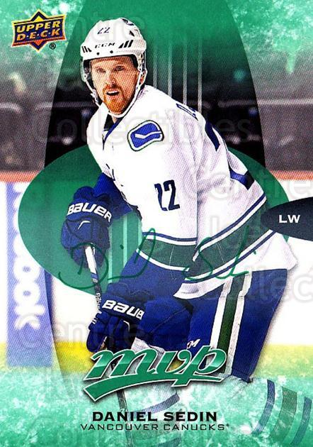 2016-17 Upper Deck MVP Green #256 Daniel Sedin<br/>1 In Stock - $5.00 each - <a href=https://centericecollectibles.foxycart.com/cart?name=2016-17%20Upper%20Deck%20MVP%20Green%20%23256%20Daniel%20Sedin...&quantity_max=1&price=$5.00&code=729436 class=foxycart> Buy it now! </a>