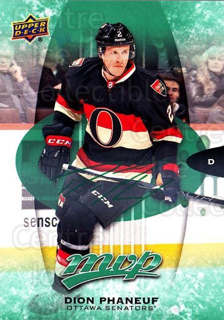 2016-17 Upper Deck MVP Green #76 Dion Phaneuf<br/>1 In Stock - $3.00 each - <a href=https://centericecollectibles.foxycart.com/cart?name=2016-17%20Upper%20Deck%20MVP%20Green%20%2376%20Dion%20Phaneuf...&quantity_max=1&price=$3.00&code=729450 class=foxycart> Buy it now! </a>
