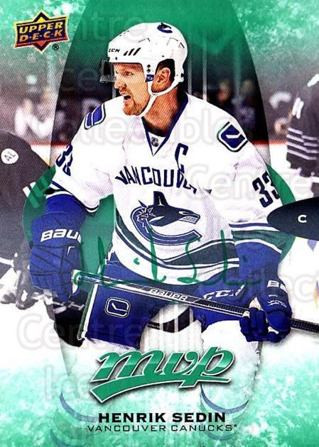 2016-17 Upper Deck MVP Green #221 Henrik Sedin<br/>1 In Stock - $5.00 each - <a href=https://centericecollectibles.foxycart.com/cart?name=2016-17%20Upper%20Deck%20MVP%20Green%20%23221%20Henrik%20Sedin...&quantity_max=1&price=$5.00&code=729473 class=foxycart> Buy it now! </a>