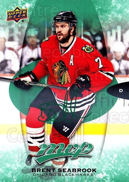 2016-17 Upper Deck MVP Green #64 Brent Seabrook<br/>2 In Stock - $3.00 each - <a href=https://centericecollectibles.foxycart.com/cart?name=2016-17%20Upper%20Deck%20MVP%20Green%20%2364%20Brent%20Seabrook...&quantity_max=2&price=$3.00&code=729531 class=foxycart> Buy it now! </a>