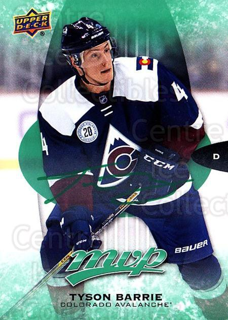 2016-17 Upper Deck MVP Green #75 Tyson Barrie<br/>1 In Stock - $3.00 each - <a href=https://centericecollectibles.foxycart.com/cart?name=2016-17%20Upper%20Deck%20MVP%20Green%20%2375%20Tyson%20Barrie...&quantity_max=1&price=$3.00&code=729535 class=foxycart> Buy it now! </a>