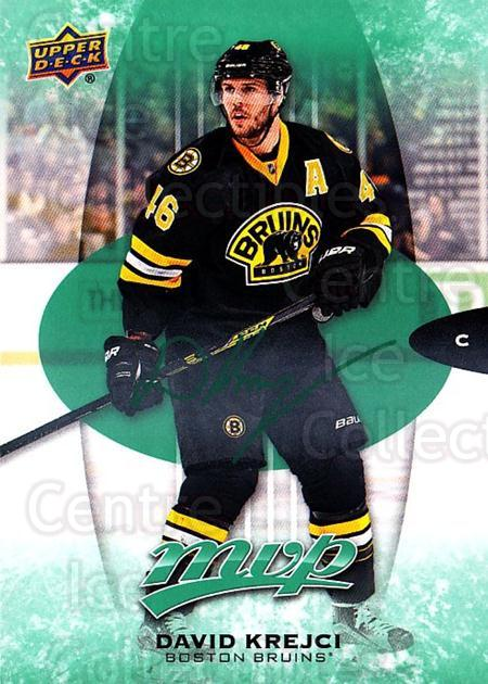 2016-17 Upper Deck MVP Green #59 David Krejci<br/>2 In Stock - $3.00 each - <a href=https://centericecollectibles.foxycart.com/cart?name=2016-17%20Upper%20Deck%20MVP%20Green%20%2359%20David%20Krejci...&quantity_max=2&price=$3.00&code=729573 class=foxycart> Buy it now! </a>