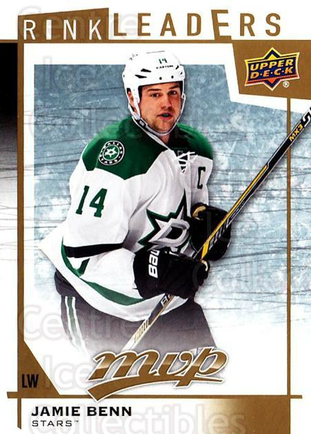 2016-17 Upper Deck MVP Rink Leaders #20 Jamie Benn<br/>1 In Stock - $3.00 each - <a href=https://centericecollectibles.foxycart.com/cart?name=2016-17%20Upper%20Deck%20MVP%20Rink%20Leaders%20%2320%20Jamie%20Benn...&quantity_max=1&price=$3.00&code=729659 class=foxycart> Buy it now! </a>