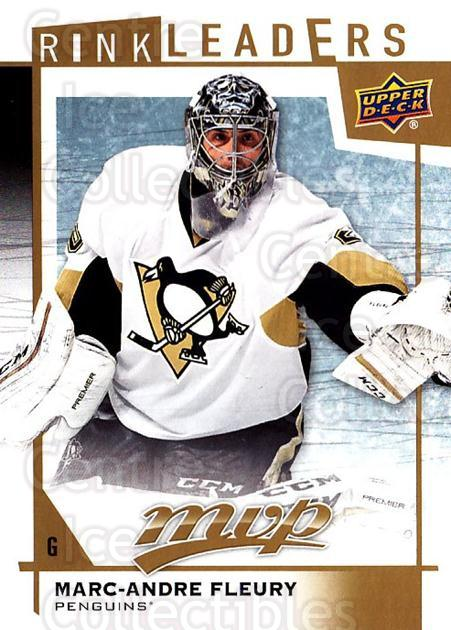 2016-17 Upper Deck MVP Rink Leaders #25 Marc-Andre Fleury<br/>1 In Stock - $5.00 each - <a href=https://centericecollectibles.foxycart.com/cart?name=2016-17%20Upper%20Deck%20MVP%20Rink%20Leaders%20%2325%20Marc-Andre%20Fleu...&quantity_max=1&price=$5.00&code=729664 class=foxycart> Buy it now! </a>