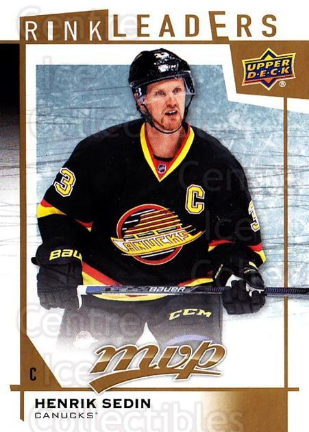 2016-17 Upper Deck MVP Rink Leaders #47 Henrik Sedin<br/>1 In Stock - $3.00 each - <a href=https://centericecollectibles.foxycart.com/cart?name=2016-17%20Upper%20Deck%20MVP%20Rink%20Leaders%20%2347%20Henrik%20Sedin...&quantity_max=1&price=$3.00&code=729686 class=foxycart> Buy it now! </a>