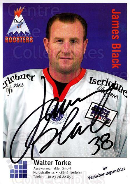 2003-04 German Iserlohn Roosters Postcards #3 James Black<br/>1 In Stock - $3.00 each - <a href=https://centericecollectibles.foxycart.com/cart?name=2003-04%20German%20Iserlohn%20Roosters%20Postcards%20%233%20James%20Black...&quantity_max=1&price=$3.00&code=729701 class=foxycart> Buy it now! </a>