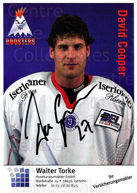 2003-04 German Iserlohn Roosters Postcards #6 David Cooper<br/>1 In Stock - $3.00 each - <a href=https://centericecollectibles.foxycart.com/cart?name=2003-04%20German%20Iserlohn%20Roosters%20Postcards%20%236%20David%20Cooper...&quantity_max=1&price=$3.00&code=729704 class=foxycart> Buy it now! </a>