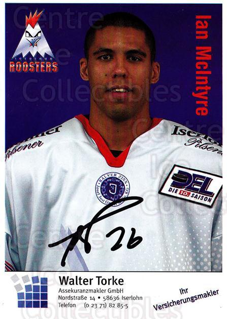 2003-04 German Iserlohn Roosters Postcards #17 Ian McIntyre<br/>1 In Stock - $3.00 each - <a href=https://centericecollectibles.foxycart.com/cart?name=2003-04%20German%20Iserlohn%20Roosters%20Postcards%20%2317%20Ian%20McIntyre...&quantity_max=1&price=$3.00&code=729705 class=foxycart> Buy it now! </a>