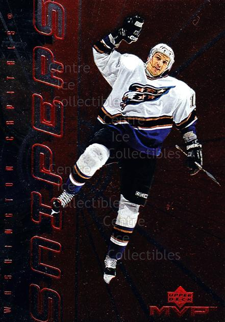 1998-99 Upper Deck MVP Snipers #9 Peter Bondra<br/>23 In Stock - $2.00 each - <a href=https://centericecollectibles.foxycart.com/cart?name=1998-99%20Upper%20Deck%20MVP%20Snipers%20%239%20Peter%20Bondra...&quantity_max=23&price=$2.00&code=72971 class=foxycart> Buy it now! </a>