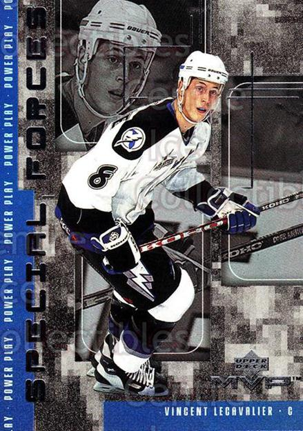 1998-99 Upper Deck MVP Special Forces #3 Vincent Lecavalier<br/>18 In Stock - $2.00 each - <a href=https://centericecollectibles.foxycart.com/cart?name=1998-99%20Upper%20Deck%20MVP%20Special%20Forces%20%233%20Vincent%20Lecaval...&quantity_max=18&price=$2.00&code=72973 class=foxycart> Buy it now! </a>