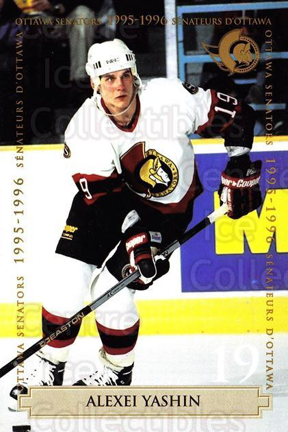 1995-96 Ottawa Senators Team Issue #24 Alexei Yashin<br/>1 In Stock - $5.00 each - <a href=https://centericecollectibles.foxycart.com/cart?name=1995-96%20Ottawa%20Senators%20Team%20Issue%20%2324%20Alexei%20Yashin...&quantity_max=1&price=$5.00&code=729758 class=foxycart> Buy it now! </a>