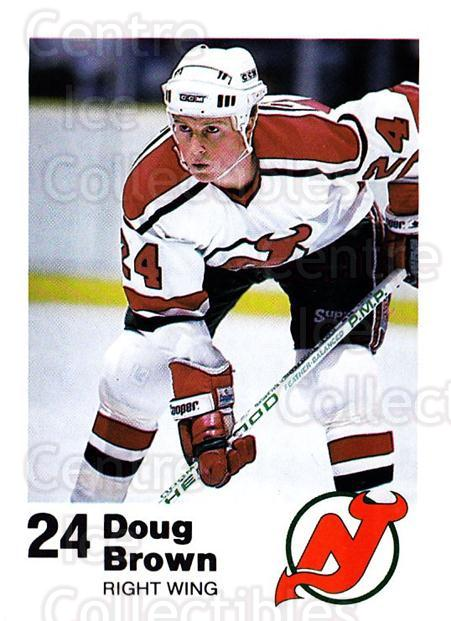 1987-88 New Jersey Devils Team Issue #9 Doug Brown<br/>1 In Stock - $5.00 each - <a href=https://centericecollectibles.foxycart.com/cart?name=1987-88%20New%20Jersey%20Devils%20Team%20Issue%20%239%20Doug%20Brown...&quantity_max=1&price=$5.00&code=729767 class=foxycart> Buy it now! </a>