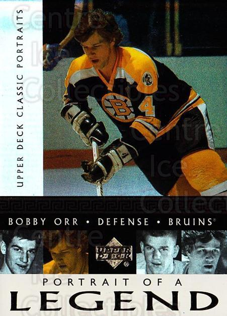 2002-03 UD Classic Portraits Portrait of a Legend #9 Bobby Orr<br/>1 In Stock - $5.00 each - <a href=https://centericecollectibles.foxycart.com/cart?name=2002-03%20UD%20Classic%20Portraits%20Portrait%20of%20a%20Legend%20%239%20Bobby%20Orr...&quantity_max=1&price=$5.00&code=729793 class=foxycart> Buy it now! </a>
