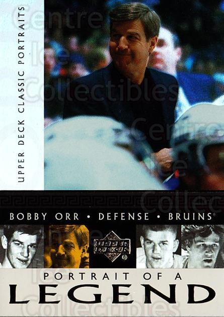 2002-03 UD Classic Portraits Portrait of a Legend #10 Bobby Orr<br/>1 In Stock - $5.00 each - <a href=https://centericecollectibles.foxycart.com/cart?name=2002-03%20UD%20Classic%20Portraits%20Portrait%20of%20a%20Legend%20%2310%20Bobby%20Orr...&quantity_max=1&price=$5.00&code=729794 class=foxycart> Buy it now! </a>