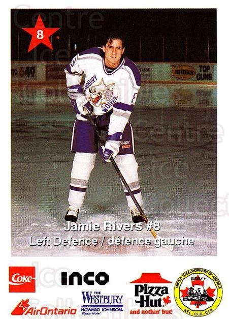 1993-94 Sudbury Wolves Police #8 Jamie Rivers<br/>1 In Stock - $3.00 each - <a href=https://centericecollectibles.foxycart.com/cart?name=1993-94%20Sudbury%20Wolves%20Police%20%238%20Jamie%20Rivers...&quantity_max=1&price=$3.00&code=729810 class=foxycart> Buy it now! </a>