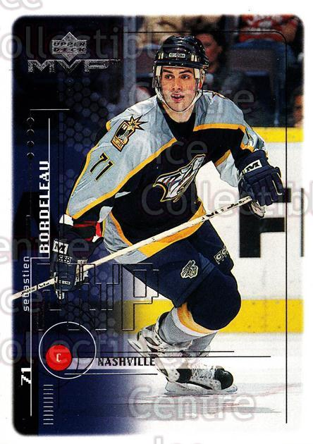1998-99 Upper Deck MVP #115 Sebastien Bordeleau<br/>13 In Stock - $1.00 each - <a href=https://centericecollectibles.foxycart.com/cart?name=1998-99%20Upper%20Deck%20MVP%20%23115%20Sebastien%20Borde...&quantity_max=13&price=$1.00&code=72993 class=foxycart> Buy it now! </a>