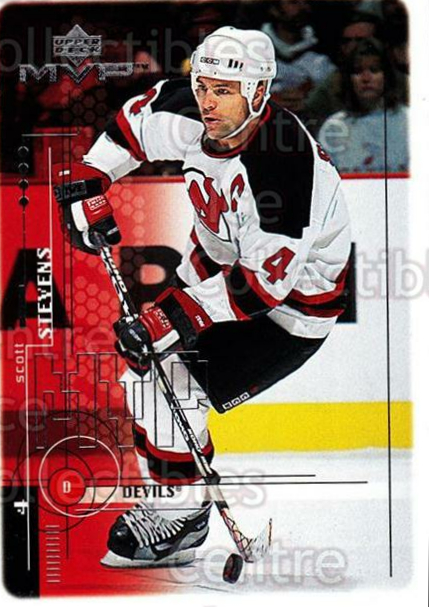 1998-99 Upper Deck MVP #116 Scott Stevens<br/>13 In Stock - $1.00 each - <a href=https://centericecollectibles.foxycart.com/cart?name=1998-99%20Upper%20Deck%20MVP%20%23116%20Scott%20Stevens...&quantity_max=13&price=$1.00&code=72994 class=foxycart> Buy it now! </a>