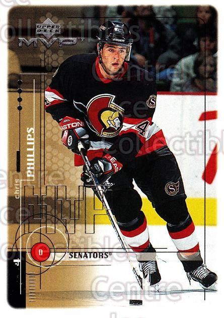1998-99 Upper Deck MVP #144 Chris Phillips<br/>13 In Stock - $1.00 each - <a href=https://centericecollectibles.foxycart.com/cart?name=1998-99%20Upper%20Deck%20MVP%20%23144%20Chris%20Phillips...&quantity_max=13&price=$1.00&code=73024 class=foxycart> Buy it now! </a>