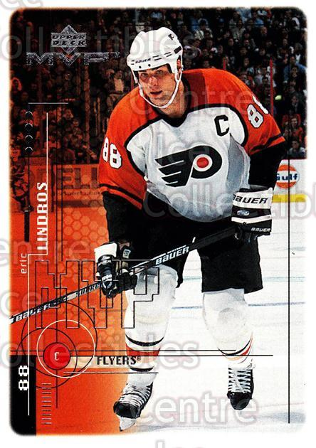 1998-99 Upper Deck MVP #147 Eric Lindros<br/>14 In Stock - $1.00 each - <a href=https://centericecollectibles.foxycart.com/cart?name=1998-99%20Upper%20Deck%20MVP%20%23147%20Eric%20Lindros...&quantity_max=14&price=$1.00&code=73027 class=foxycart> Buy it now! </a>