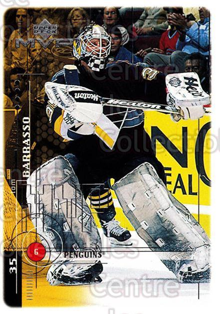 1998-99 Upper Deck MVP #164 Tom Barrasso<br/>14 In Stock - $1.00 each - <a href=https://centericecollectibles.foxycart.com/cart?name=1998-99%20Upper%20Deck%20MVP%20%23164%20Tom%20Barrasso...&quantity_max=14&price=$1.00&code=73046 class=foxycart> Buy it now! </a>
