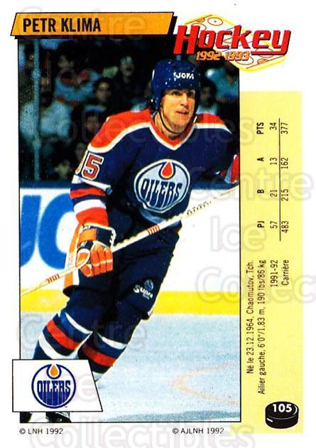 1992-93 Panini Stickers French #105 Petr Klima<br/>7 In Stock - $5.00 each - <a href=https://centericecollectibles.foxycart.com/cart?name=1992-93%20Panini%20Stickers%20French%20%23105%20Petr%20Klima...&quantity_max=7&price=$5.00&code=730478 class=foxycart> Buy it now! </a>
