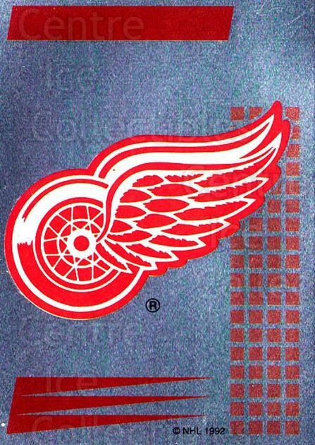 1992-93 Panini Stickers French #110 Detroit Red Wings<br/>4 In Stock - $5.00 each - <a href=https://centericecollectibles.foxycart.com/cart?name=1992-93%20Panini%20Stickers%20French%20%23110%20Detroit%20Red%20Win...&quantity_max=4&price=$5.00&code=730484 class=foxycart> Buy it now! </a>