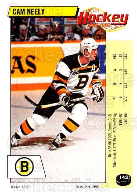 1992-93 Panini Stickers French #143 Cam Neely<br/>4 In Stock - $10.00 each - <a href=https://centericecollectibles.foxycart.com/cart?name=1992-93%20Panini%20Stickers%20French%20%23143%20Cam%20Neely...&quantity_max=4&price=$10.00&code=730517 class=foxycart> Buy it now! </a>