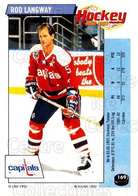 1992-93 Panini Stickers French #169 Rod Langway<br/>5 In Stock - $5.00 each - <a href=https://centericecollectibles.foxycart.com/cart?name=1992-93%20Panini%20Stickers%20French%20%23169%20Rod%20Langway...&quantity_max=5&price=$5.00&code=730543 class=foxycart> Buy it now! </a>