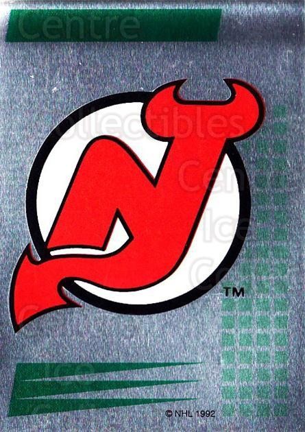 1992-93 Panini Stickers French #170 New Jersey Devils<br/>8 In Stock - $5.00 each - <a href=https://centericecollectibles.foxycart.com/cart?name=1992-93%20Panini%20Stickers%20French%20%23170%20New%20Jersey%20Devi...&quantity_max=8&price=$5.00&code=730545 class=foxycart> Buy it now! </a>
