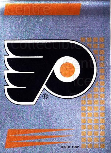 1992-93 Panini Stickers French #182 Philadelphia Flyers<br/>10 In Stock - $5.00 each - <a href=https://centericecollectibles.foxycart.com/cart?name=1992-93%20Panini%20Stickers%20French%20%23182%20Philadelphia%20Fl...&quantity_max=10&price=$5.00&code=730557 class=foxycart> Buy it now! </a>