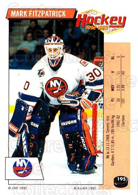 1992-93 Panini Stickers French #195 Mark Fitzpatrick<br/>10 In Stock - $5.00 each - <a href=https://centericecollectibles.foxycart.com/cart?name=1992-93%20Panini%20Stickers%20French%20%23195%20Mark%20Fitzpatric...&quantity_max=10&price=$5.00&code=730571 class=foxycart> Buy it now! </a>
