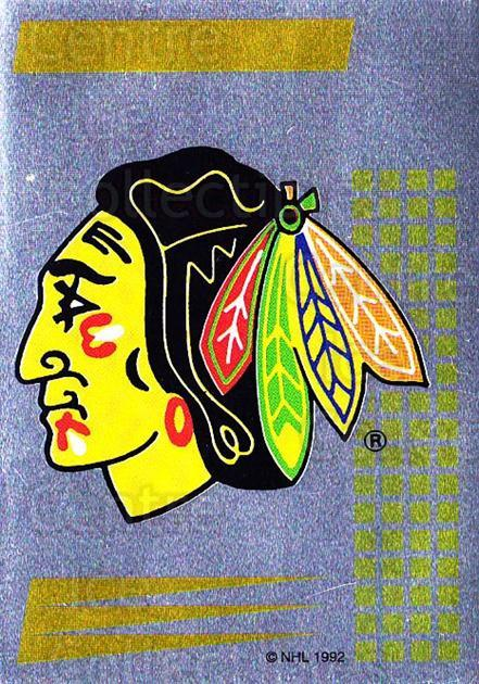 1992-93 Panini Stickers French #2 Chicago Blackhawks<br/>6 In Stock - $5.00 each - <a href=https://centericecollectibles.foxycart.com/cart?name=1992-93%20Panini%20Stickers%20French%20%232%20Chicago%20Blackha...&quantity_max=6&price=$5.00&code=730576 class=foxycart> Buy it now! </a>