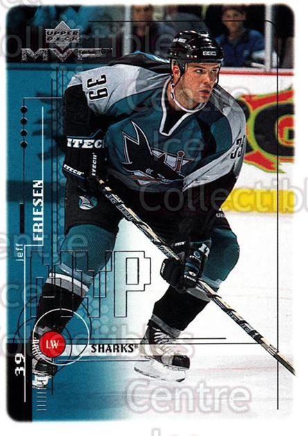 1998-99 Upper Deck MVP #174 Jeff Friesen<br/>14 In Stock - $1.00 each - <a href=https://centericecollectibles.foxycart.com/cart?name=1998-99%20Upper%20Deck%20MVP%20%23174%20Jeff%20Friesen...&quantity_max=14&price=$1.00&code=73057 class=foxycart> Buy it now! </a>