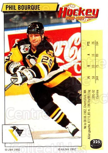 1992-93 Panini Stickers French #225 Phil Bourque<br/>7 In Stock - $5.00 each - <a href=https://centericecollectibles.foxycart.com/cart?name=1992-93%20Panini%20Stickers%20French%20%23225%20Phil%20Bourque...&quantity_max=7&price=$5.00&code=730603 class=foxycart> Buy it now! </a>