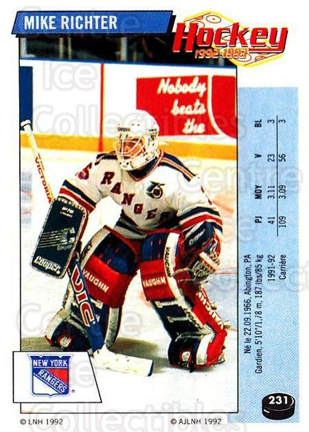 1992-93 Panini Stickers French #231 Mike Richter<br/>4 In Stock - $20.00 each - <a href=https://centericecollectibles.foxycart.com/cart?name=1992-93%20Panini%20Stickers%20French%20%23231%20Mike%20Richter...&quantity_max=4&price=$20.00&code=730610 class=foxycart> Buy it now! </a>